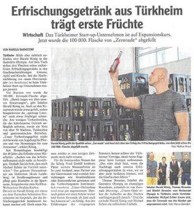 Erfrischungsgtränk aus Türkheim trägt erste Früchte