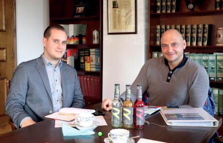Christoph Seifried (Sachon-Verlag) mit Harald König (Zeronade)