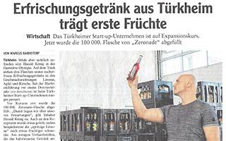 Erfrischungsgetränk aus Türkheim trägt erste Früchte