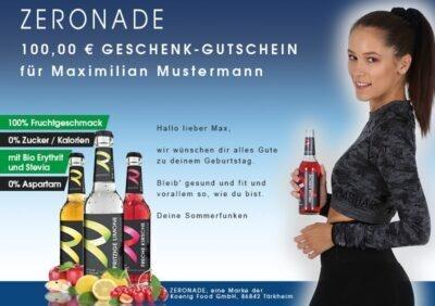 Gutschein für Diabetiker-Getränke