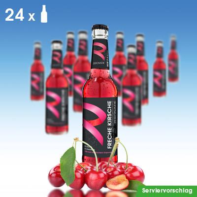 24 Flaschen ZERONADE FRECHE KIRSCHE für Diabetiker