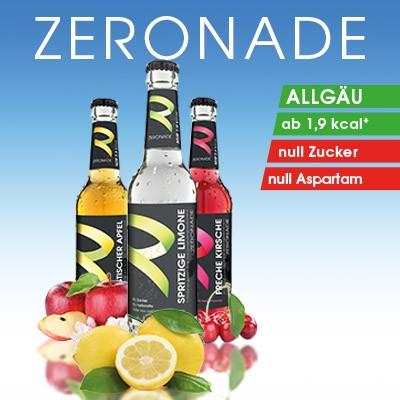 Zeronade: verschiedene Sorten (Fruchtgeschmack) ohne Farbstoffe